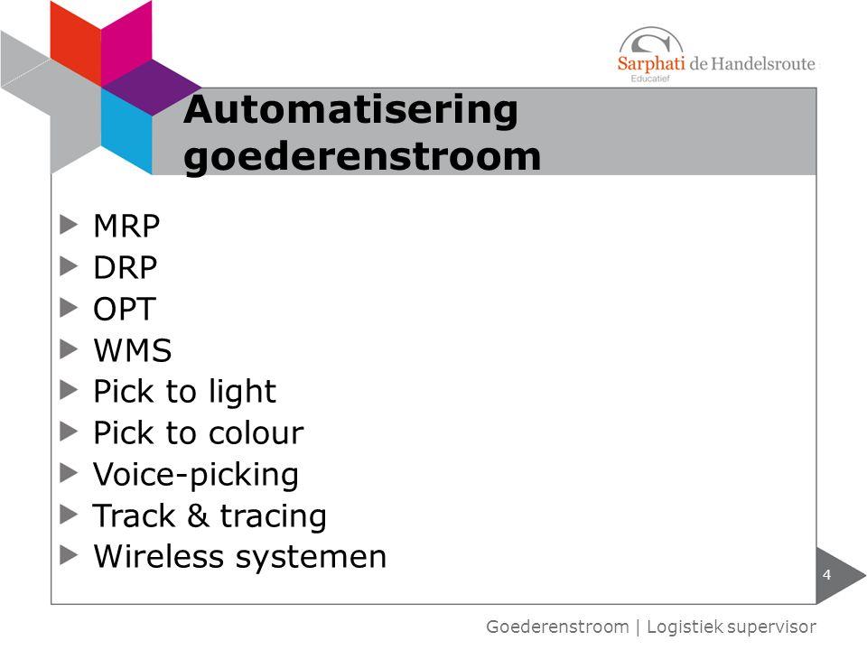 Automatisering goederenstroom