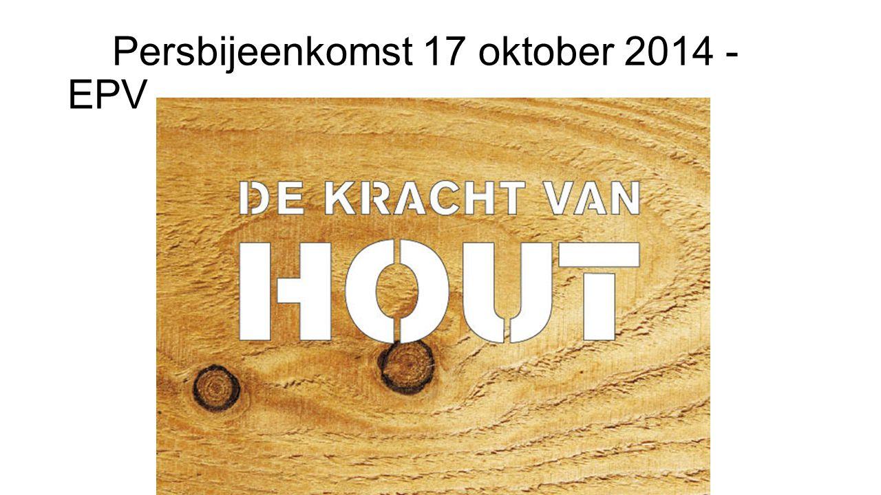 Persbijeenkomst 17 oktober 2014 - EPV