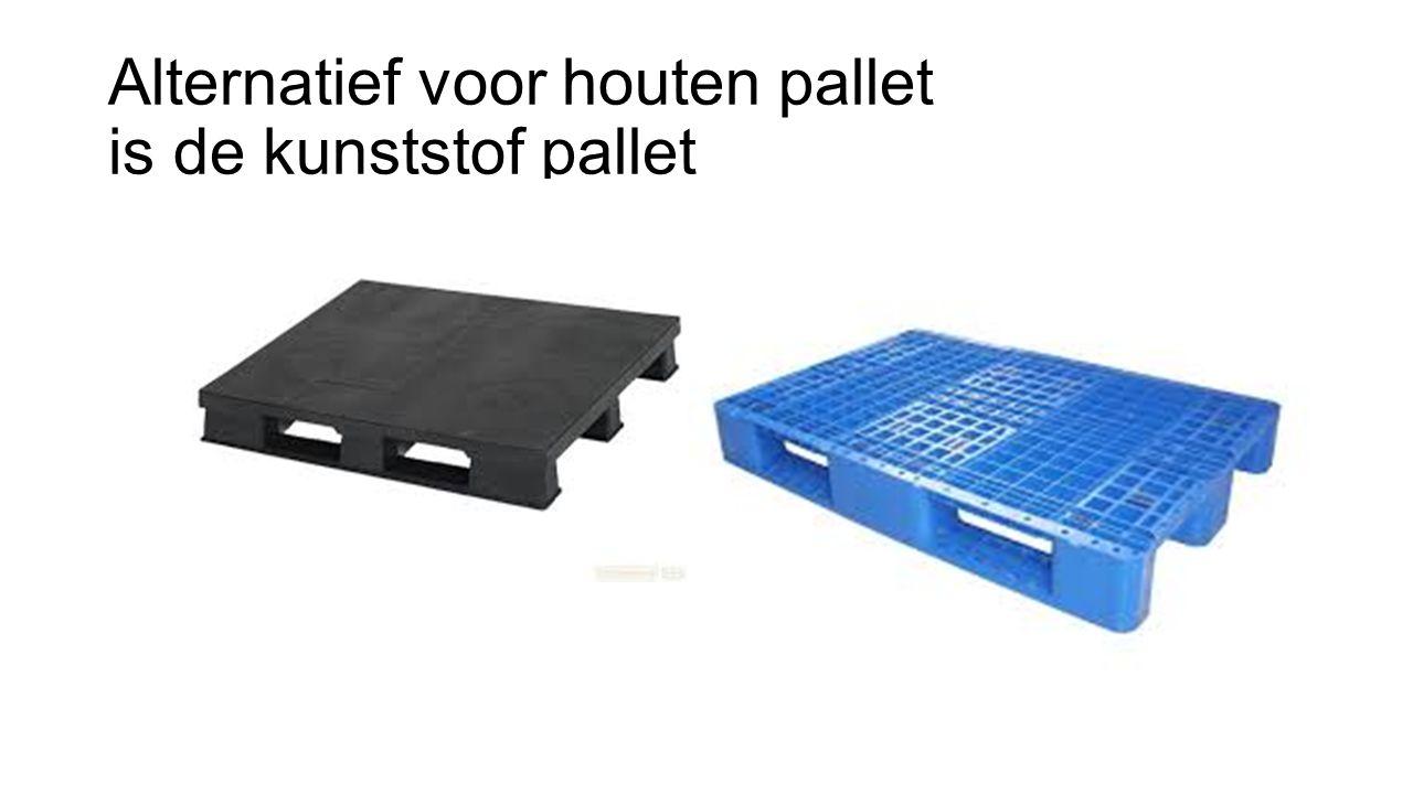 Alternatief voor houten pallet is de kunststof pallet