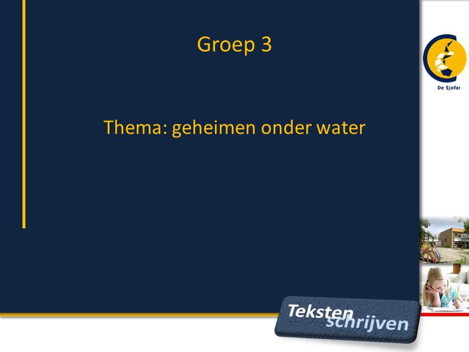 Thema: geheimen onder water