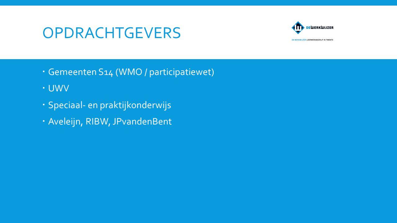 Opdrachtgevers Gemeenten S14 (WMO / participatiewet) UWV