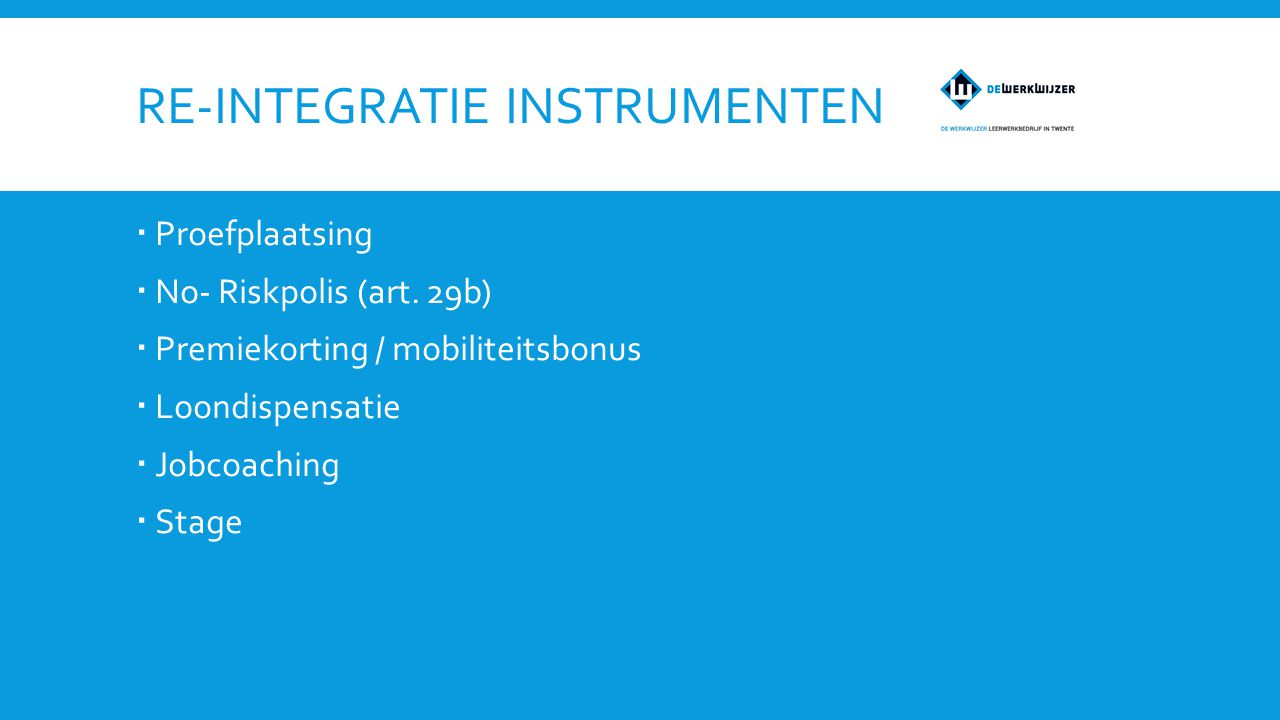 Re-integratie instrumenten