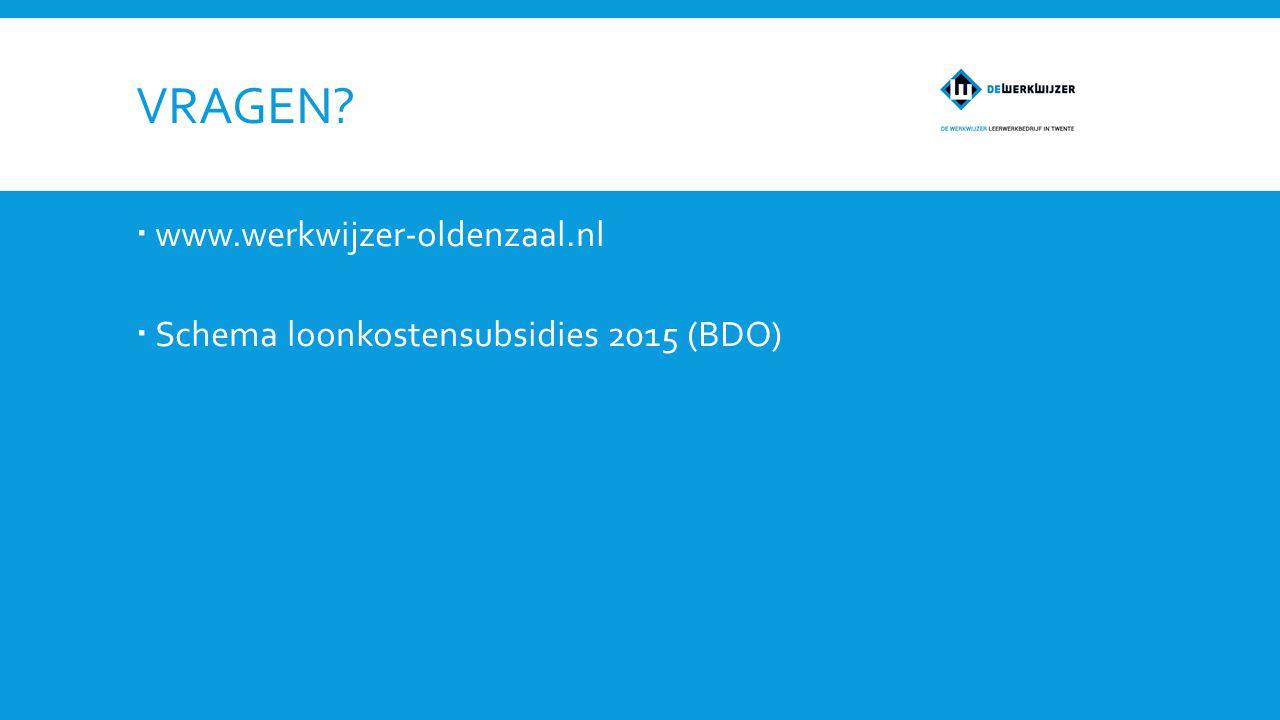 Vragen www.werkwijzer-oldenzaal.nl