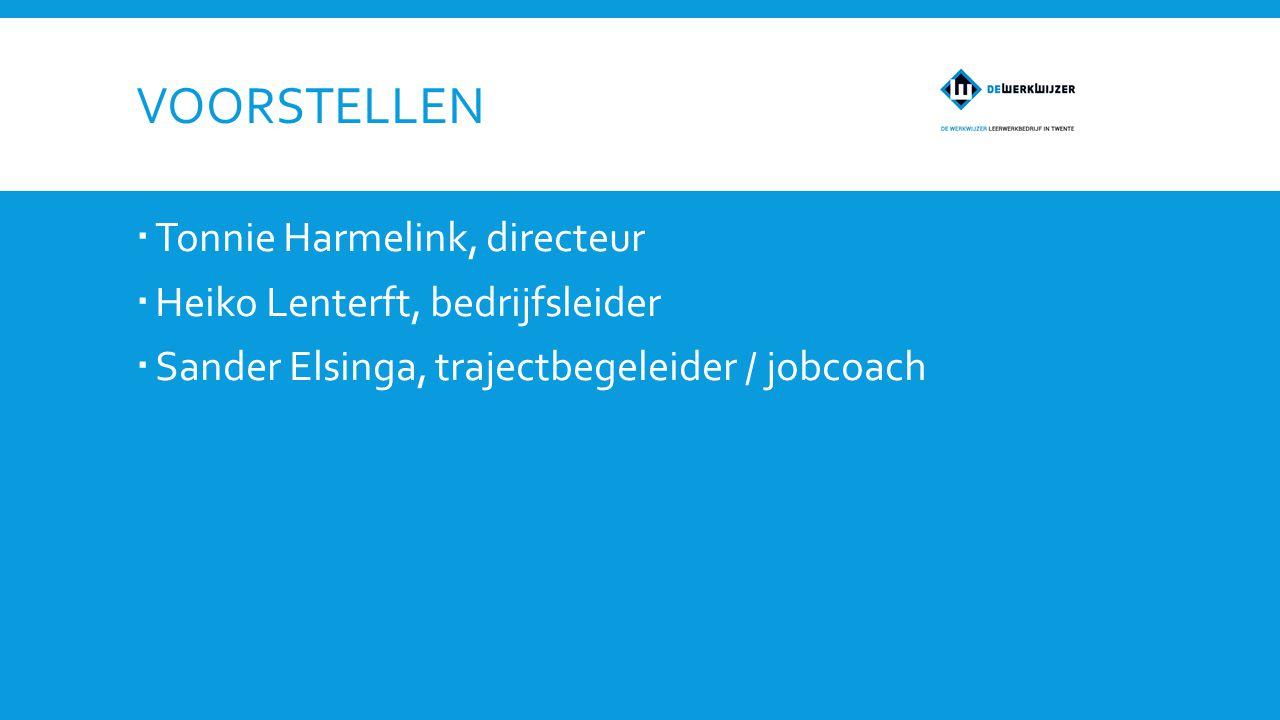 Voorstellen Tonnie Harmelink, directeur Heiko Lenterft, bedrijfsleider