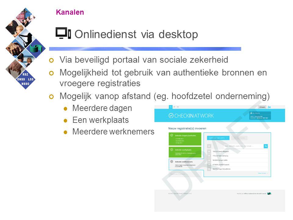 Onlinedienst via desktop