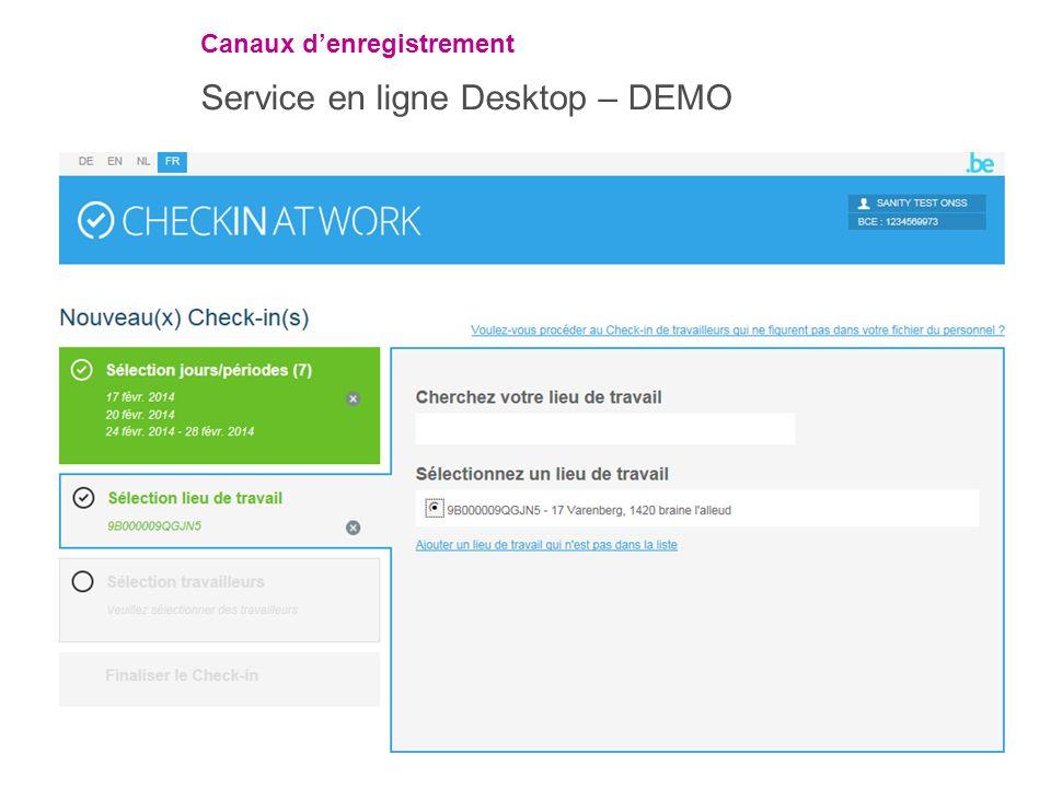 Service en ligne Desktop – DEMO