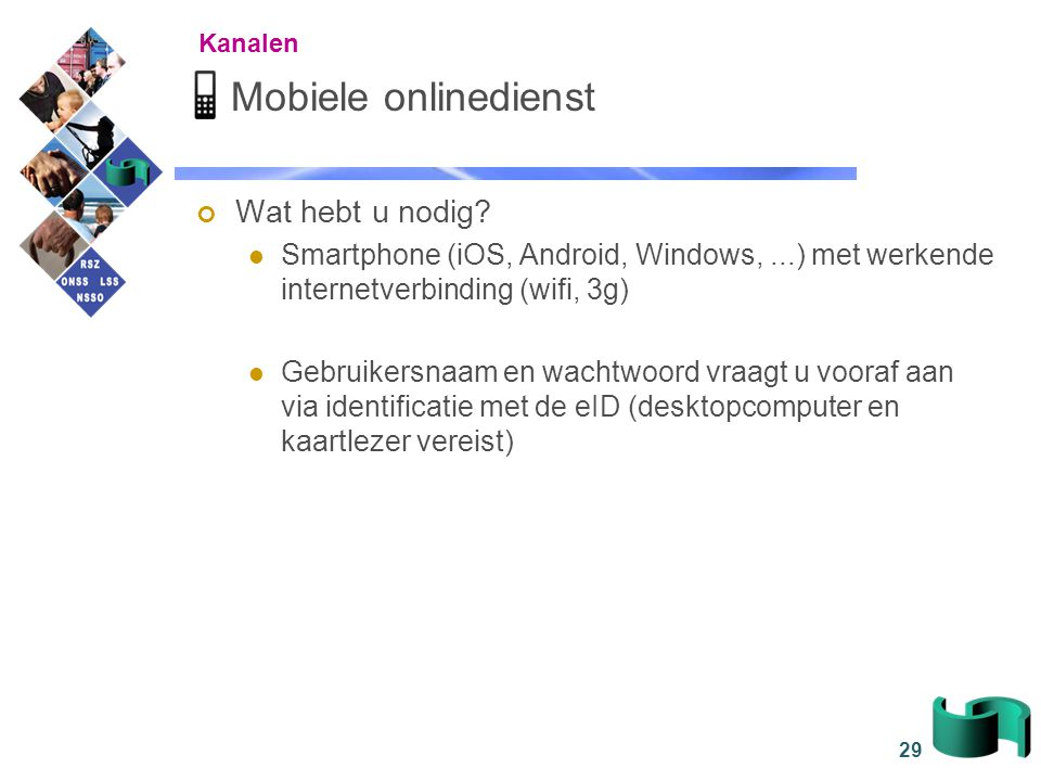 Mobiele onlinedienst Wat hebt u nodig