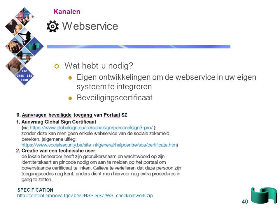 Webservice Wat hebt u nodig