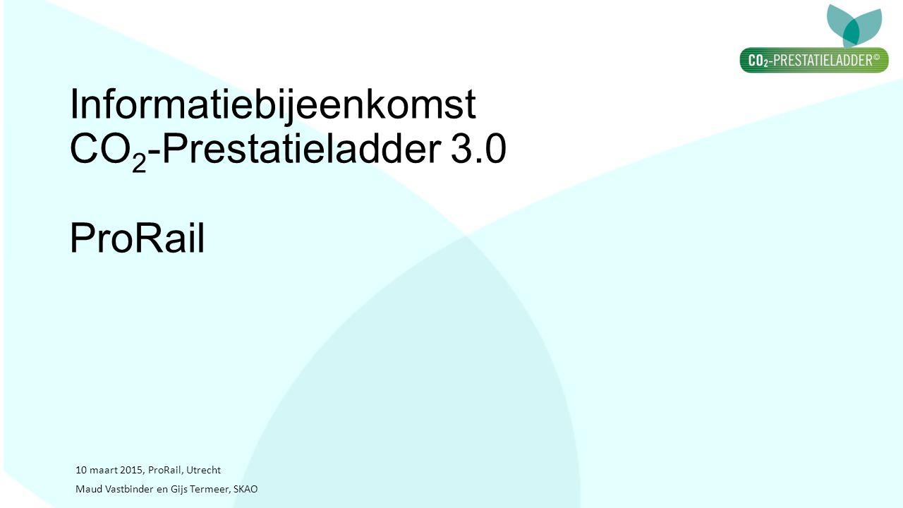 Informatiebijeenkomst CO2-Prestatieladder 3.0 ProRail