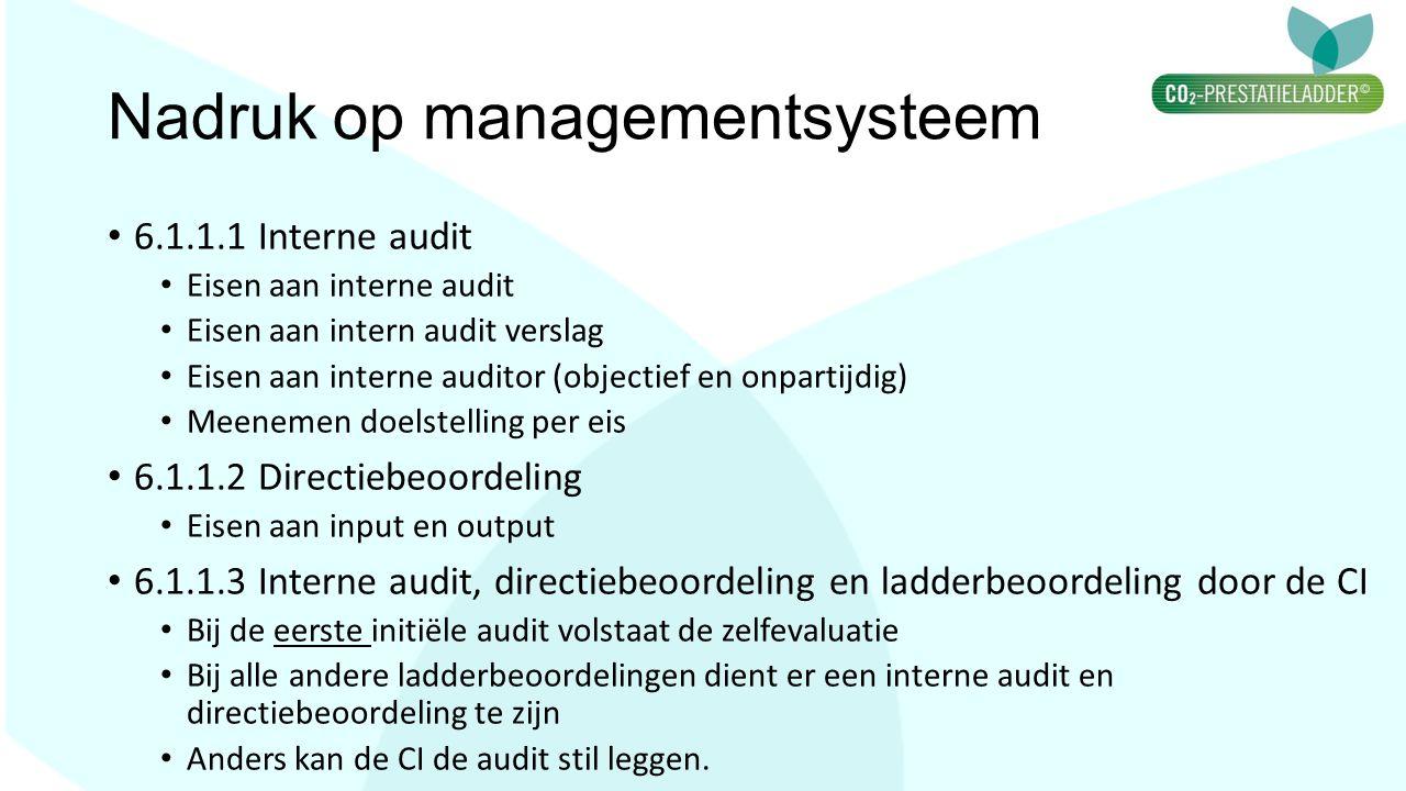 Nadruk op managementsysteem