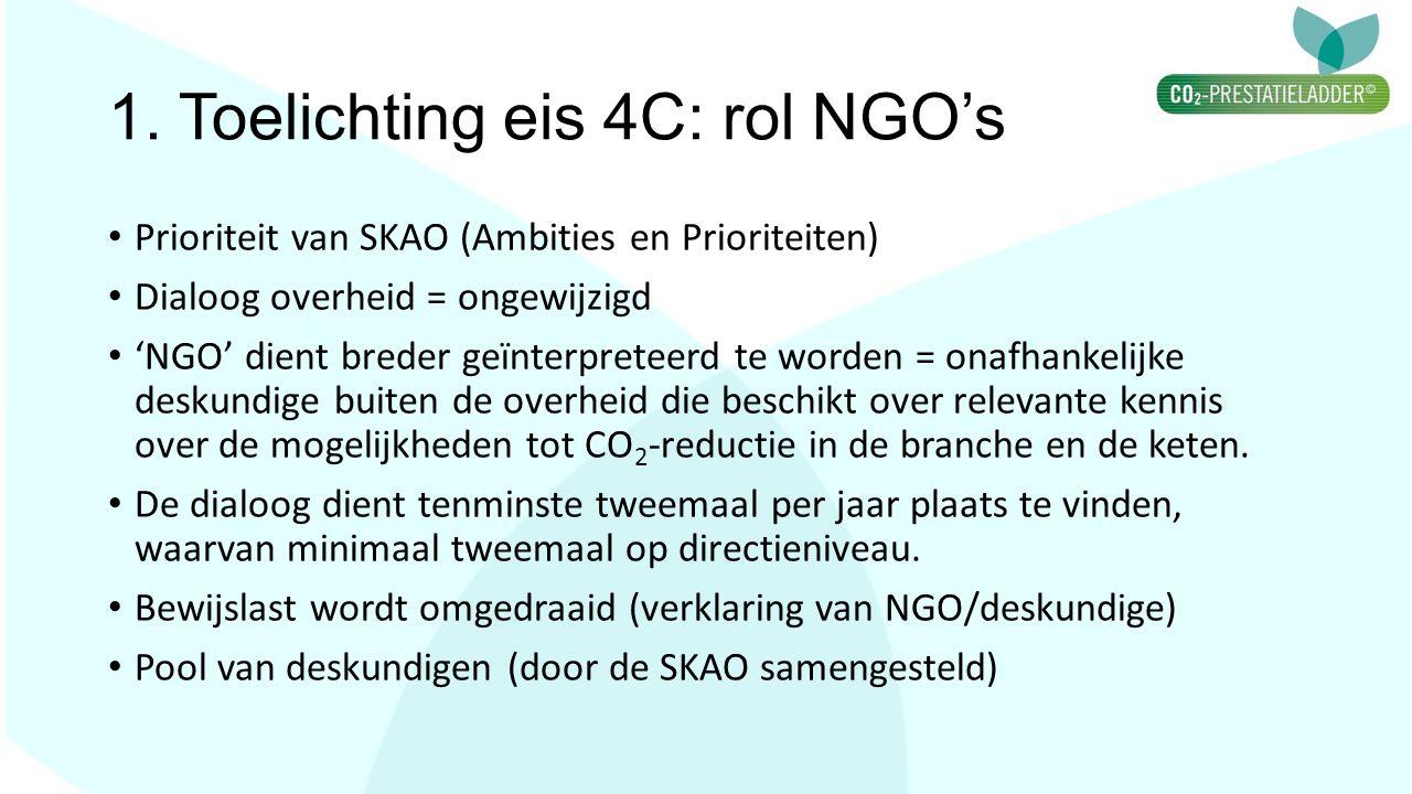 1. Toelichting eis 4C: rol NGO's