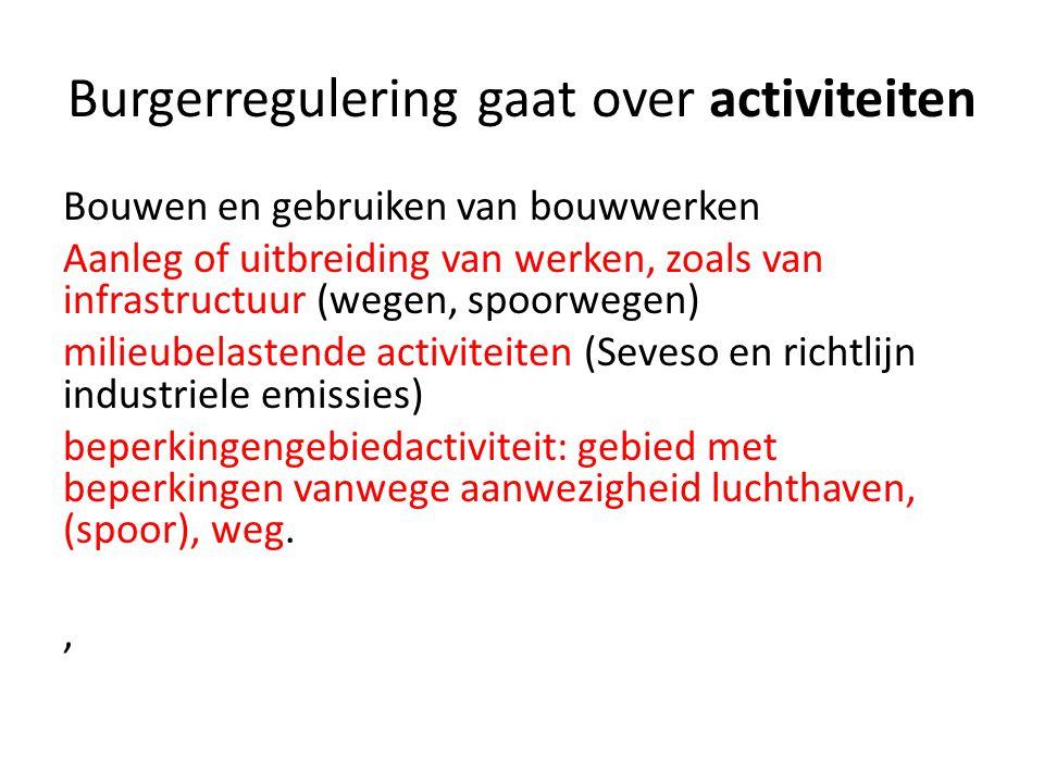 Burgerregulering gaat over activiteiten