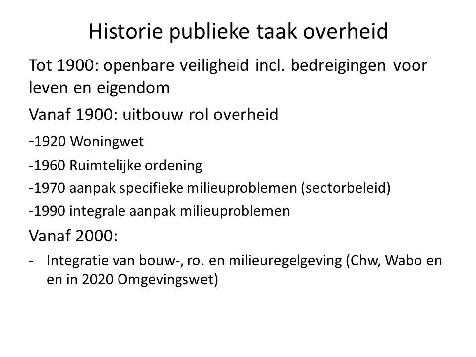 Historie publieke taak overheid