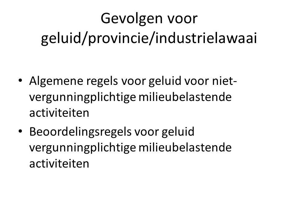 Gevolgen voor geluid/provincie/industrielawaai
