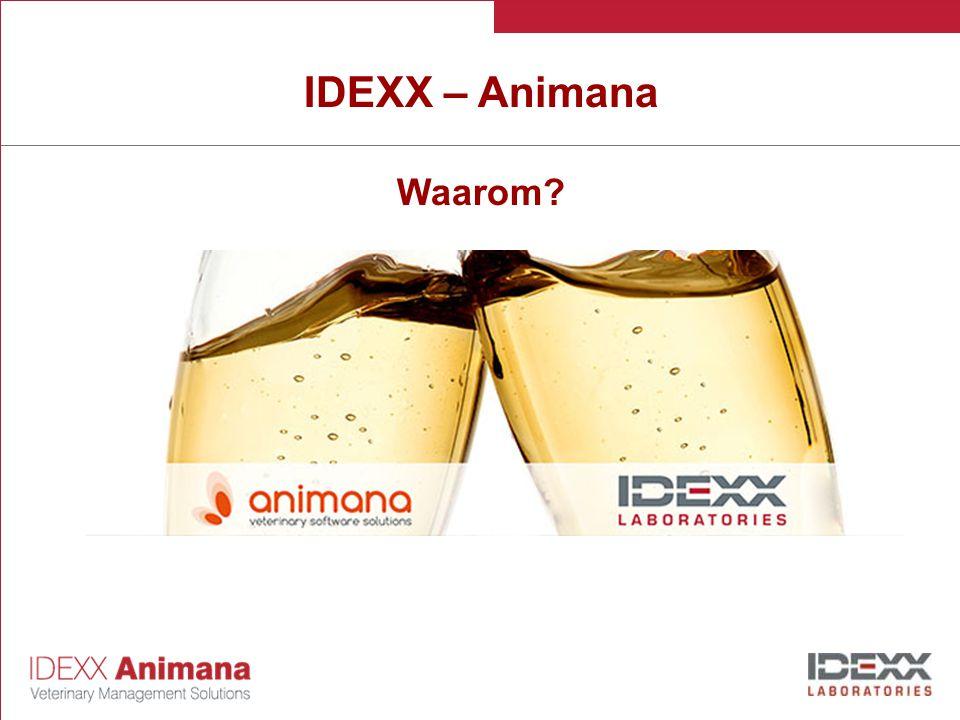 IDEXX – Animana Waarom