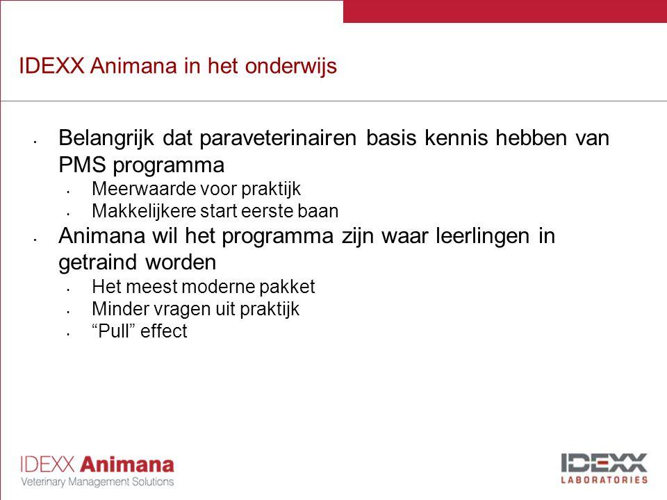 IDEXX Animana in het onderwijs