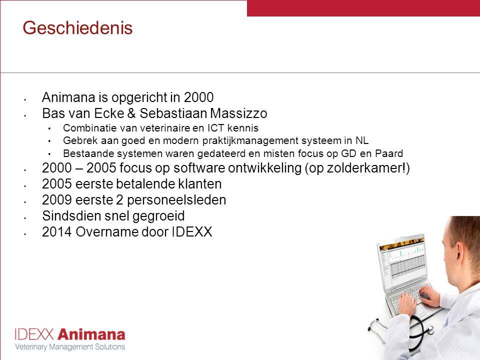 Geschiedenis Animana is opgericht in 2000