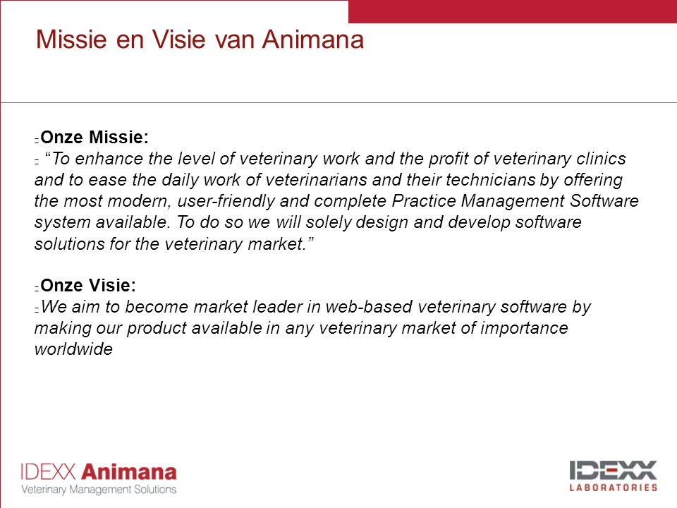 Missie en Visie van Animana