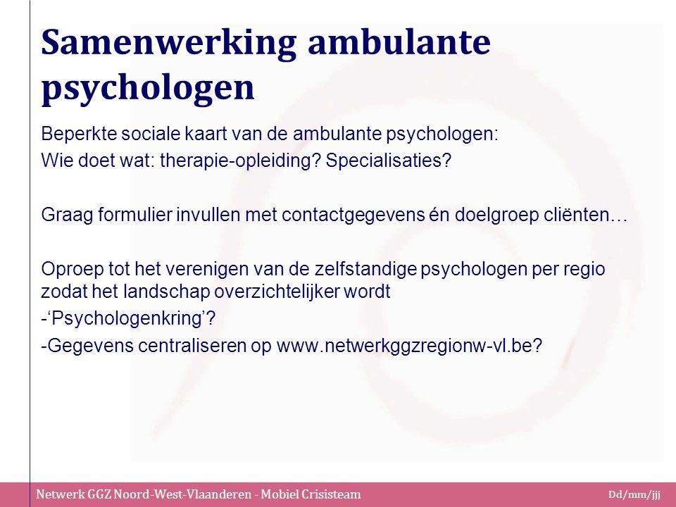 Samenwerking ambulante psychologen