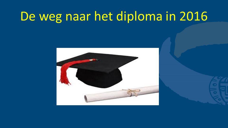 De weg naar het diploma in 2016