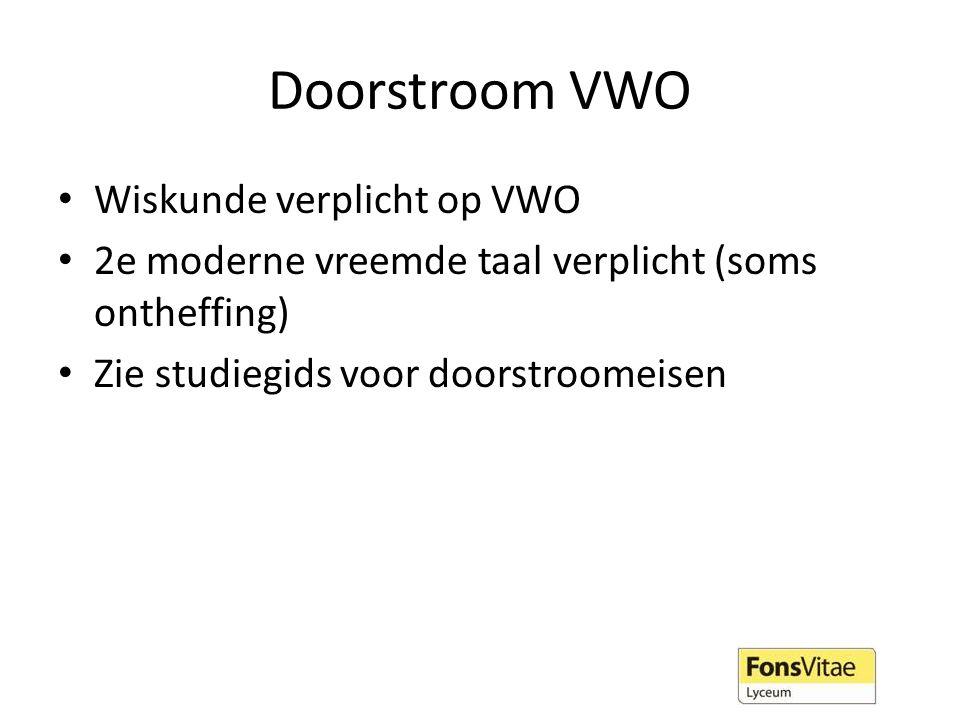 Doorstroom VWO Wiskunde verplicht op VWO