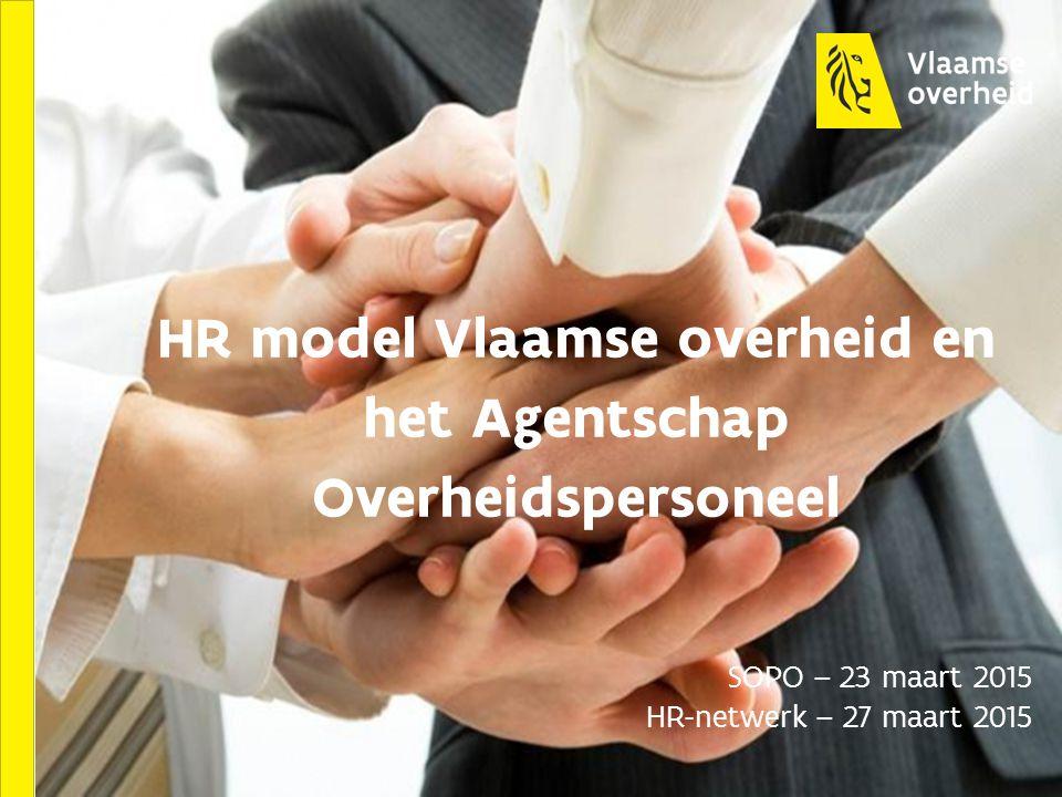 HR model Vlaamse overheid en het Agentschap Overheidspersoneel