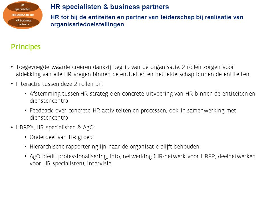 Principes HR specialisten & business partners