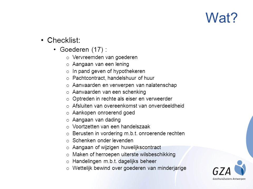 Wat Checklist: Goederen (17) : Vervreemden van goederen