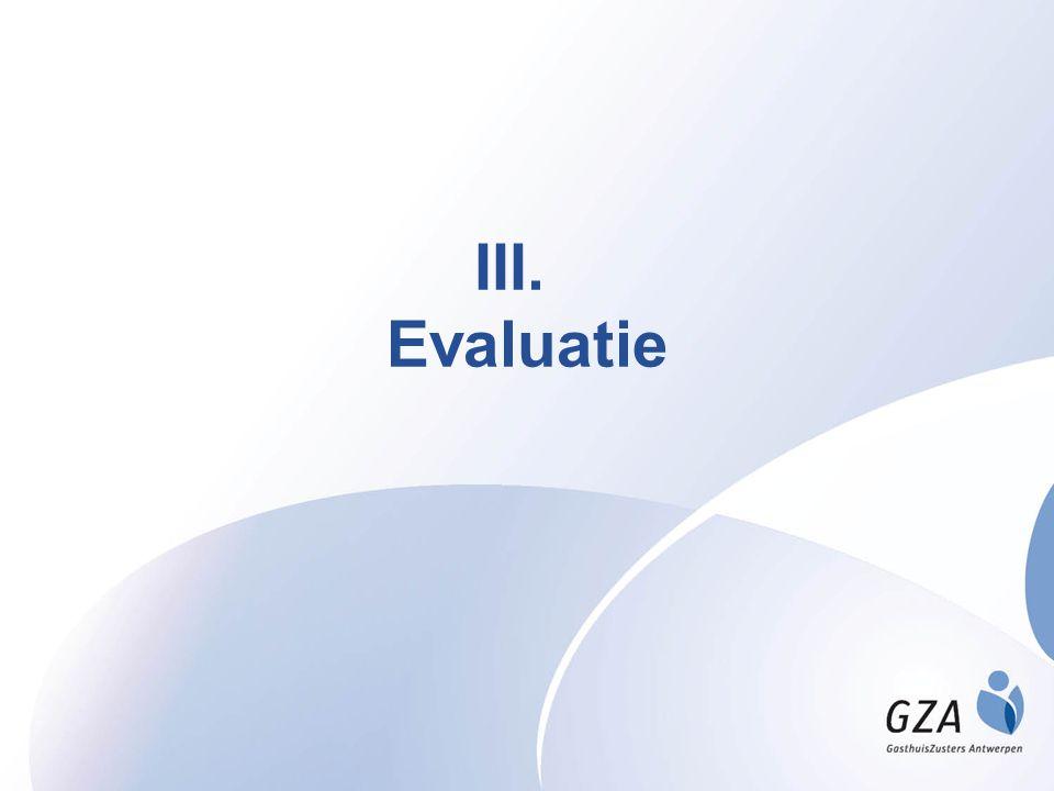 III. Evaluatie
