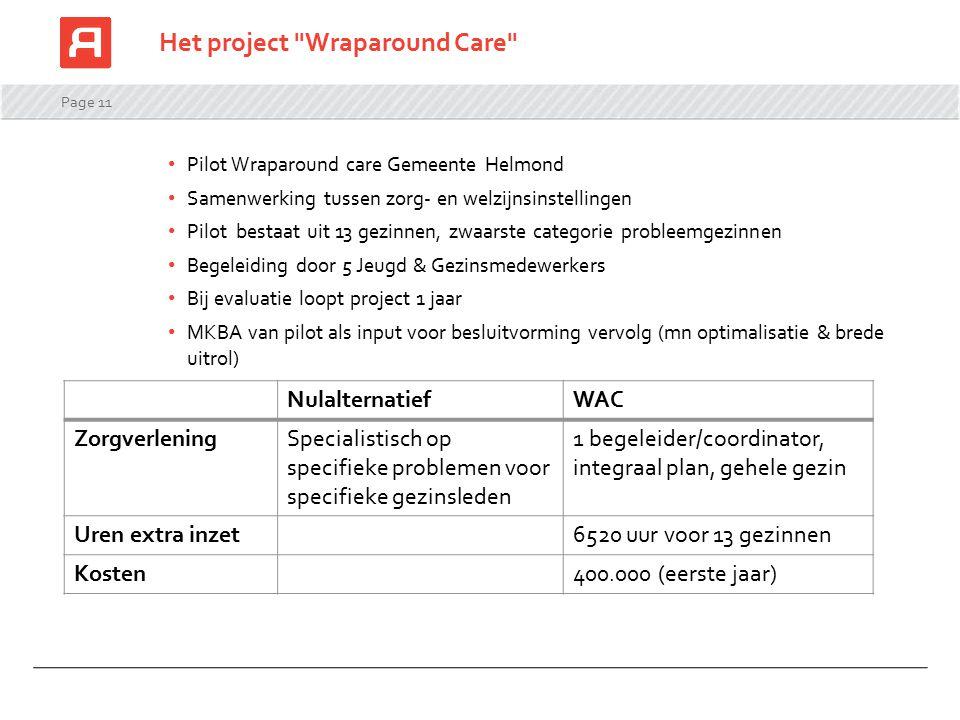 Het project Wraparound Care