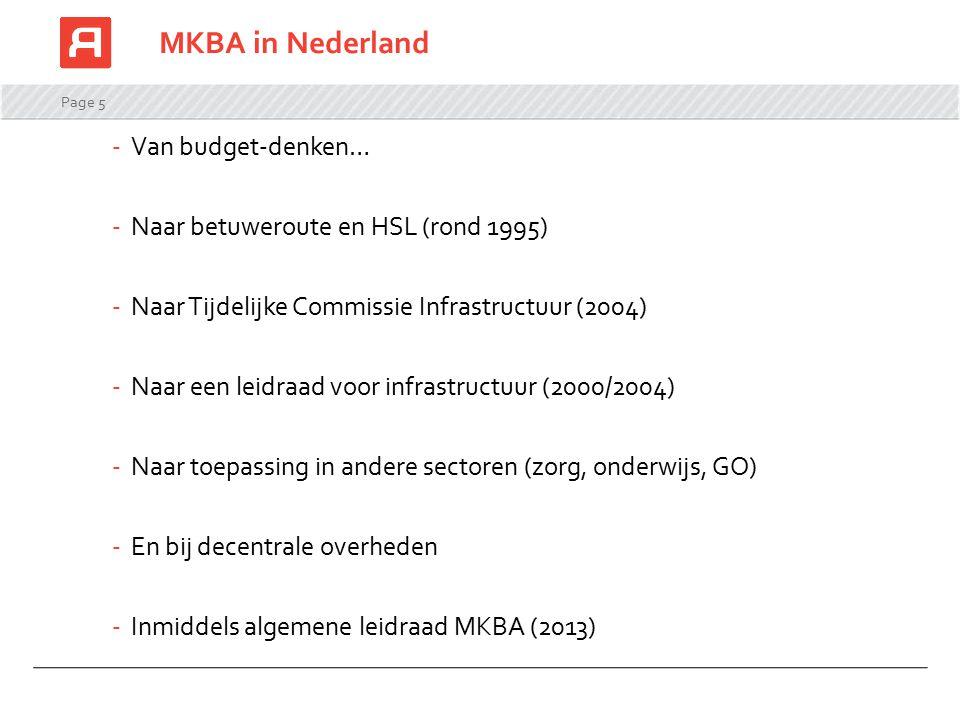 MKBA in Nederland Van budget-denken…