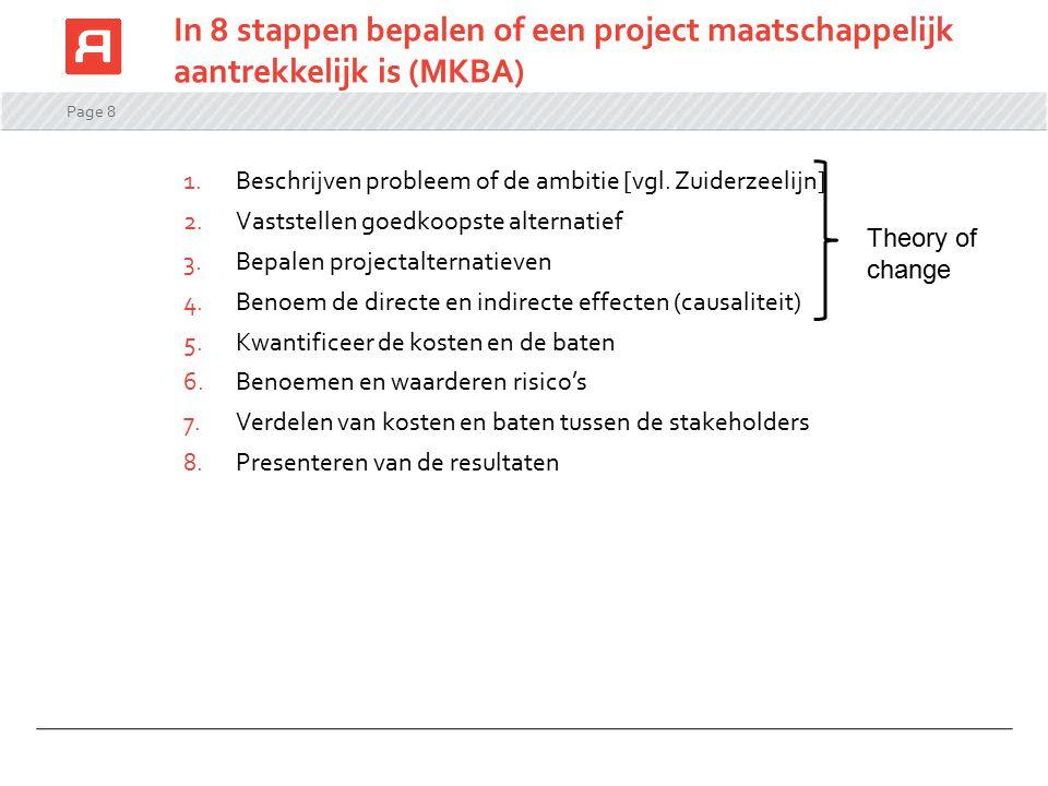 In 8 stappen bepalen of een project maatschappelijk aantrekkelijk is (MKBA)