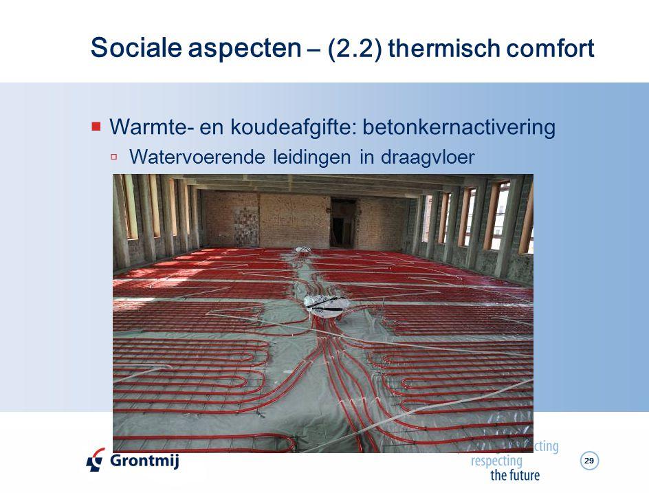 Sociale aspecten – (2.2) thermisch comfort