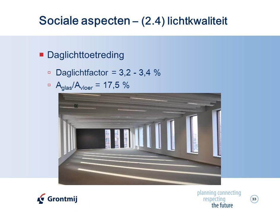 Sociale aspecten – (2.4) lichtkwaliteit