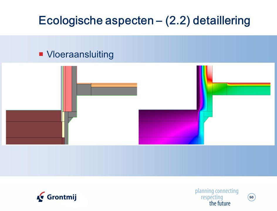 Ecologische aspecten – (2.2) detaillering