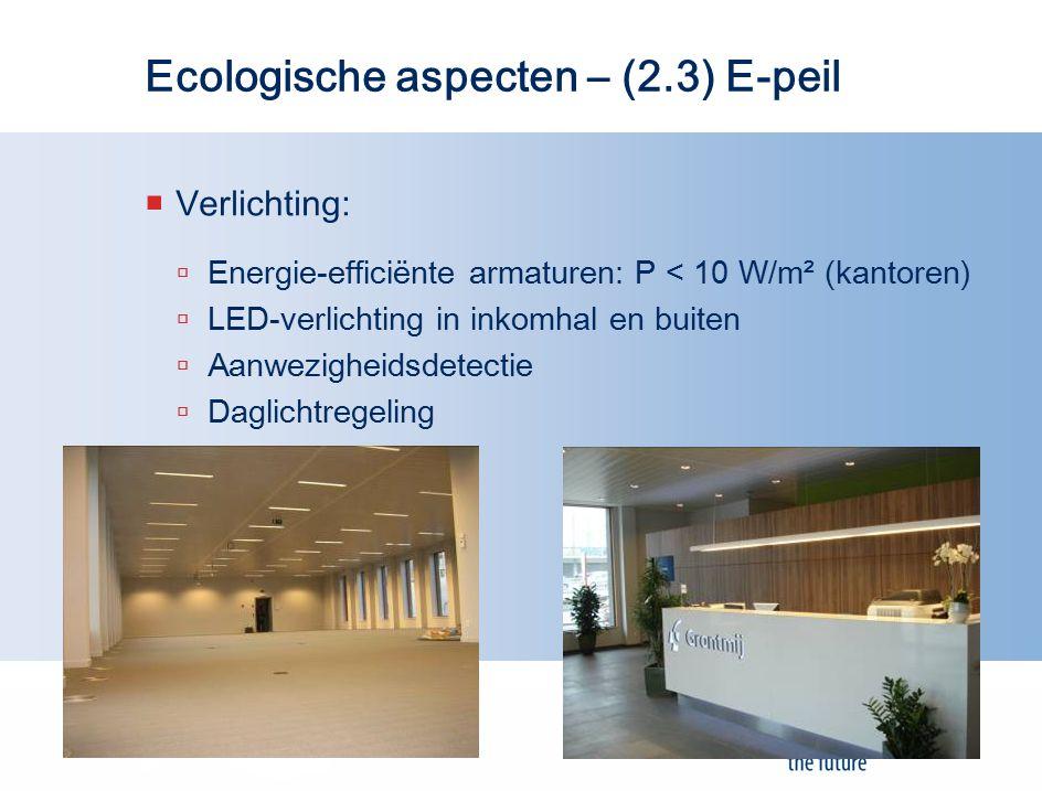 Ecologische aspecten – (2.3) E-peil