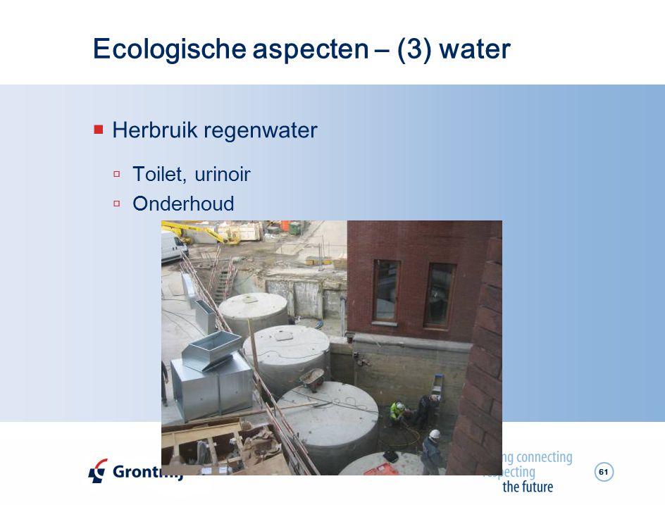 Ecologische aspecten – (3) water