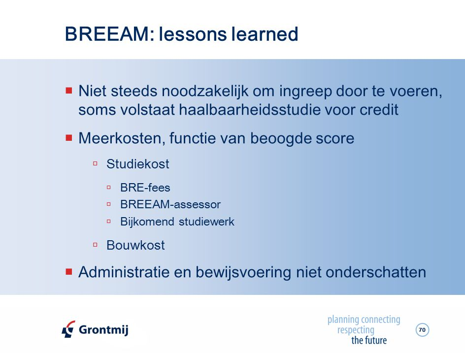 BREEAM: lessons learned