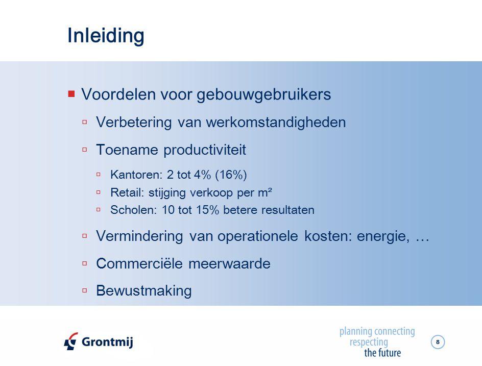 Inleiding Voordelen voor gebouwgebruikers