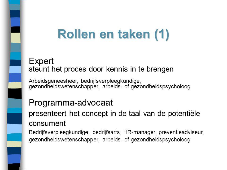 Rollen en taken (1) Expert Programma-advocaat