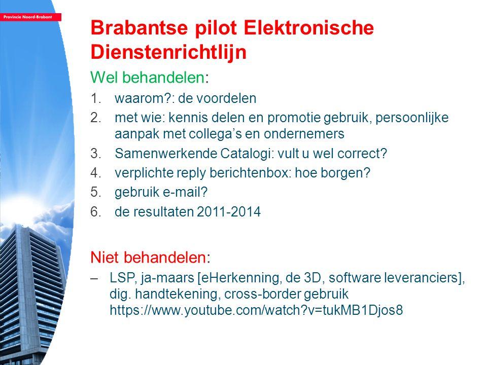 Brabantse pilot Elektronische Dienstenrichtlijn