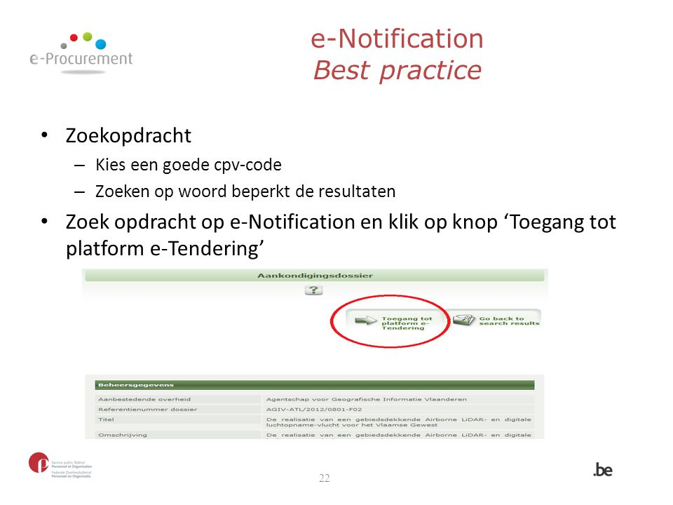 e-Notification Best practice