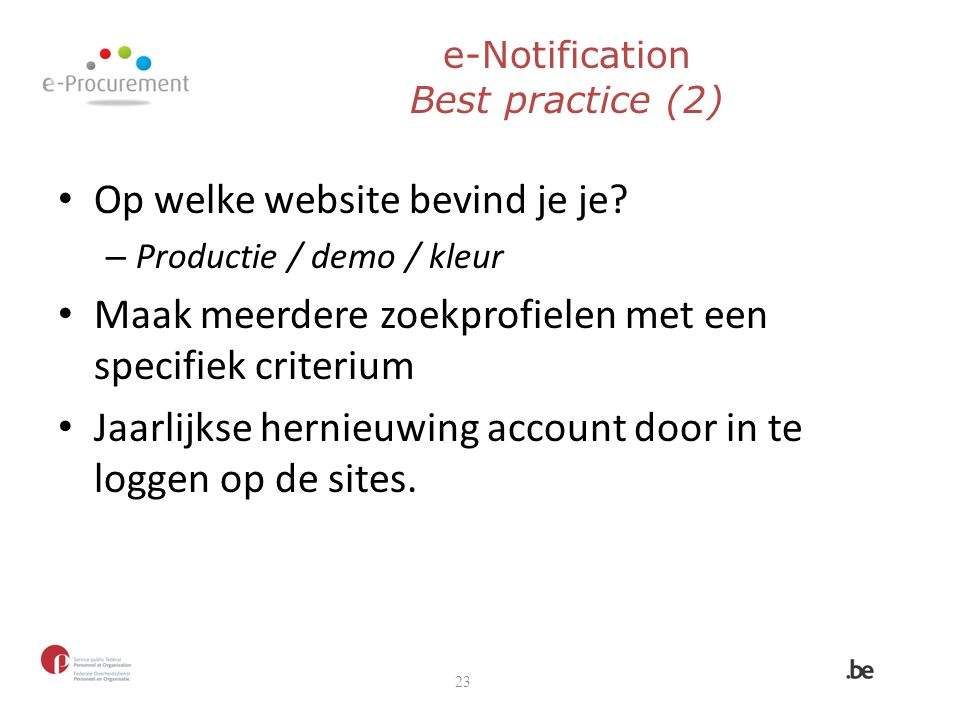 e-Notification Best practice (2)