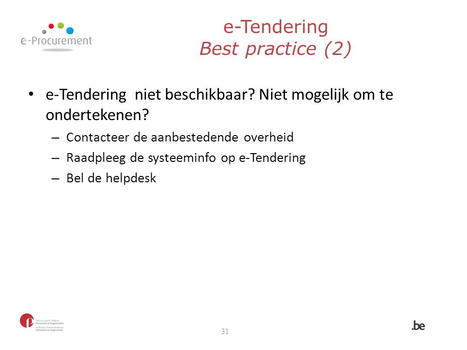 e-Tendering Best practice (2)