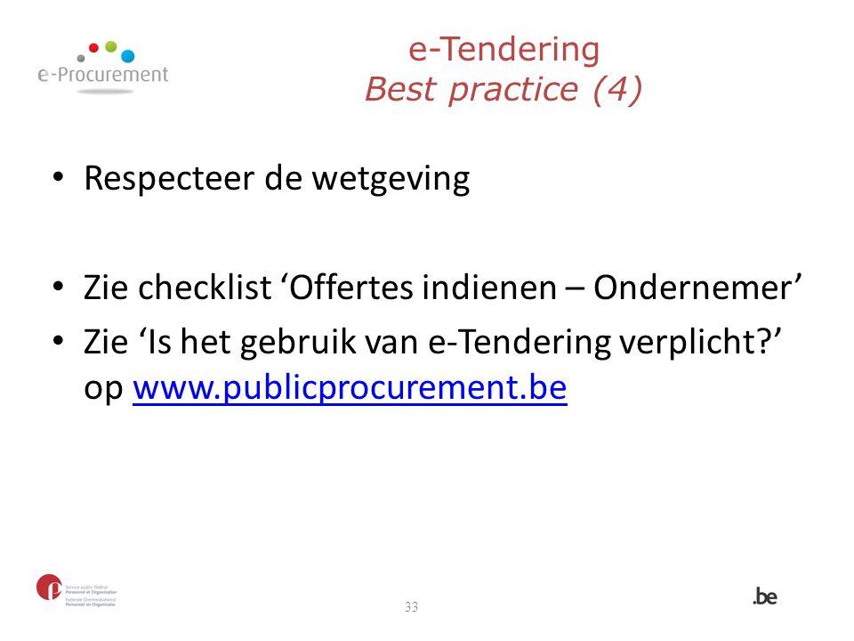 e-Tendering Best practice (4)