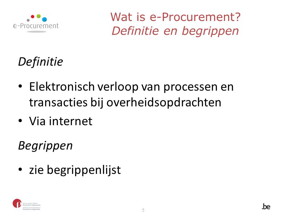 Wat is e-Procurement Definitie en begrippen