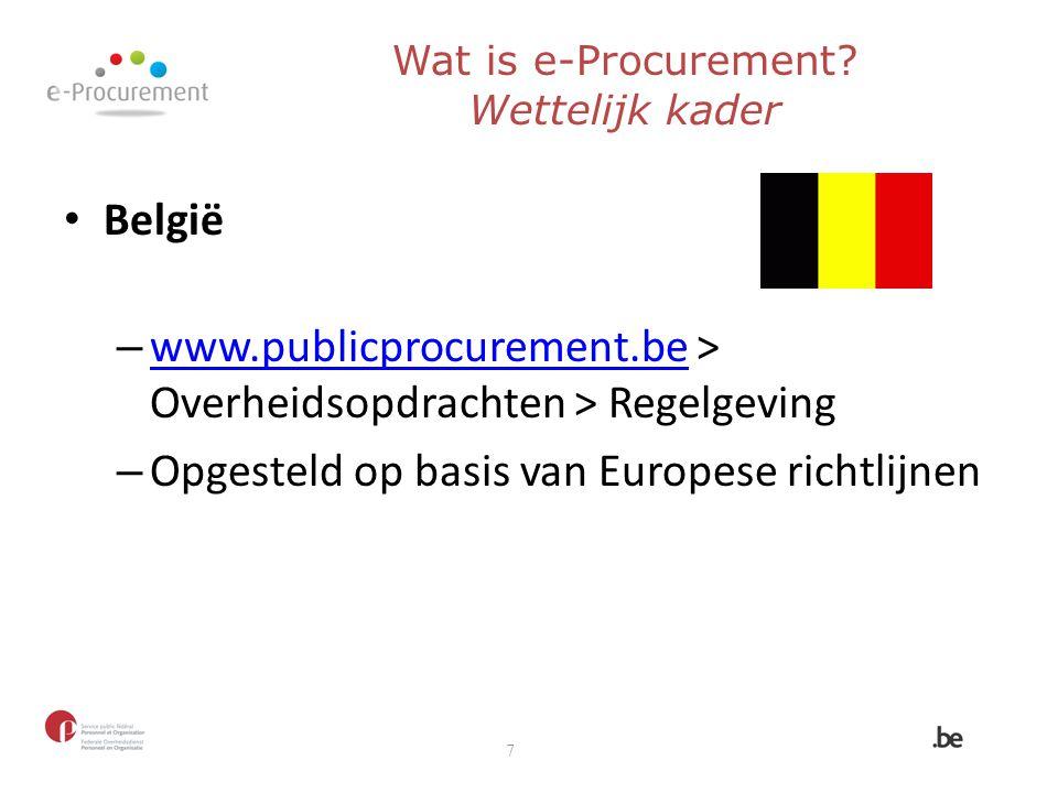Wat is e-Procurement Wettelijk kader