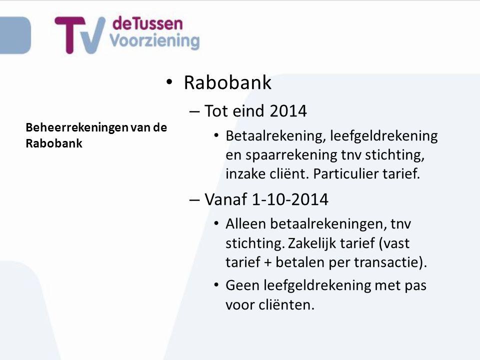 Beheerrekeningen van de Rabobank