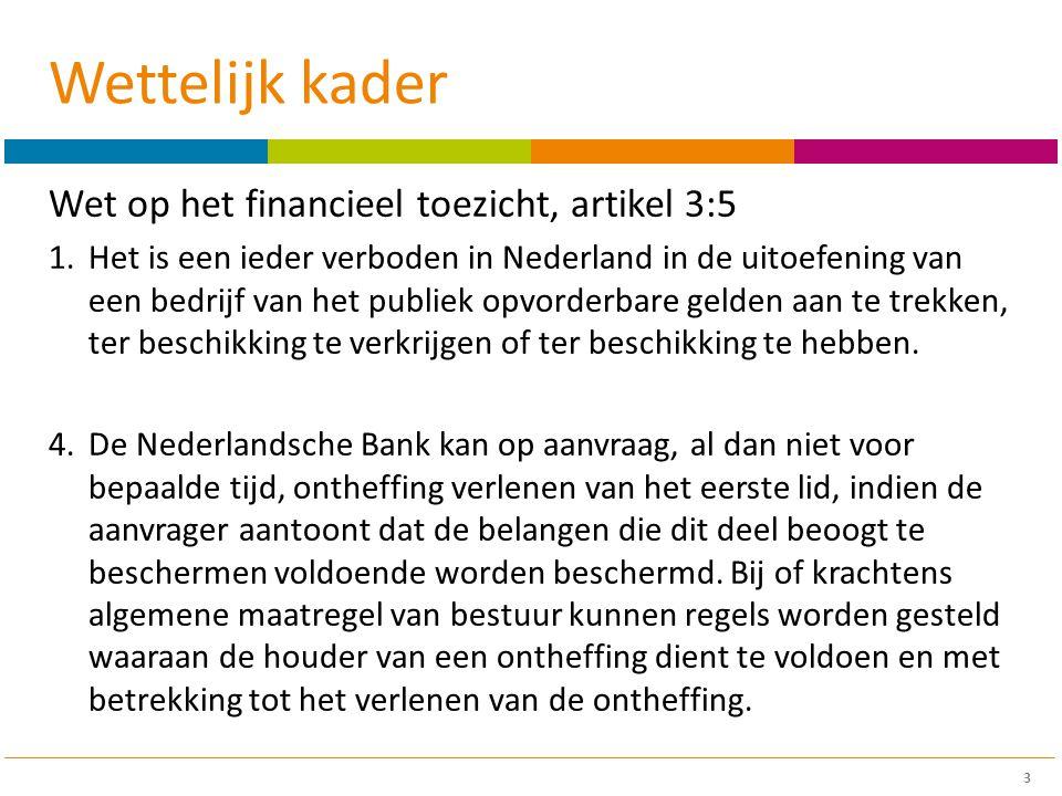 Wettelijk kader Wet op het financieel toezicht, artikel 3:5