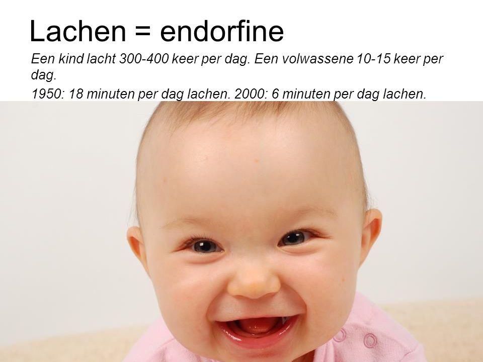 Lachen = endorfine